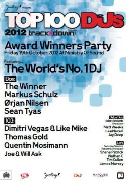 VA - Top 100 Djs Awards Party, Live at London